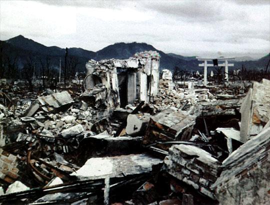 Ground Zero at Hiroshima:Dr Shimas Clinic (6/8/1945 8.16.AM)